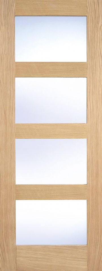 Oak Contemporary Clear Glazed (Unfinished, 4L)